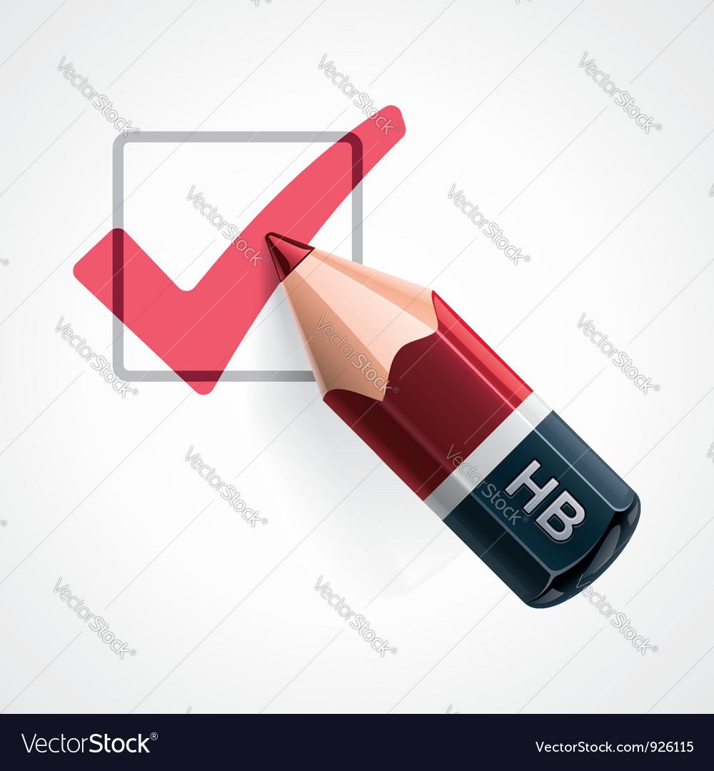 Pencil and tick mark icon
