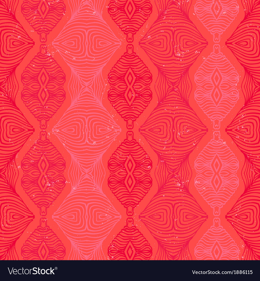 Retro pattern with linear shapes in vintage style vector image