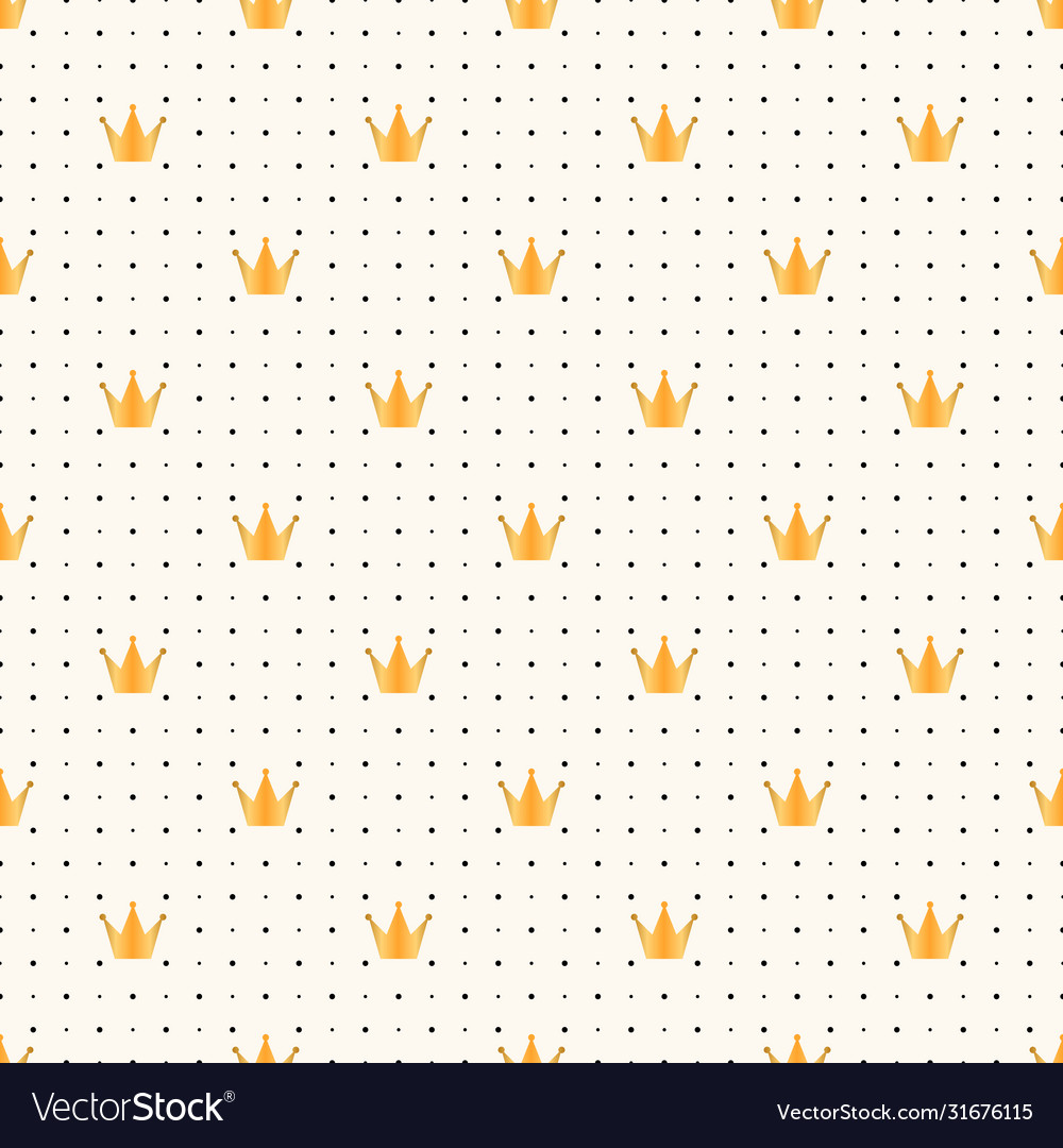 Seamless luxury pattern with golden crown