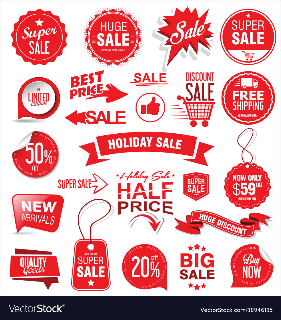 Super sale badges and labels collection
