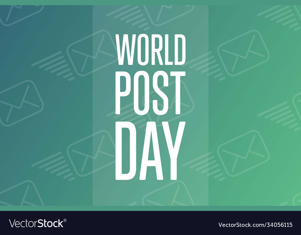 World post day october holiday concept