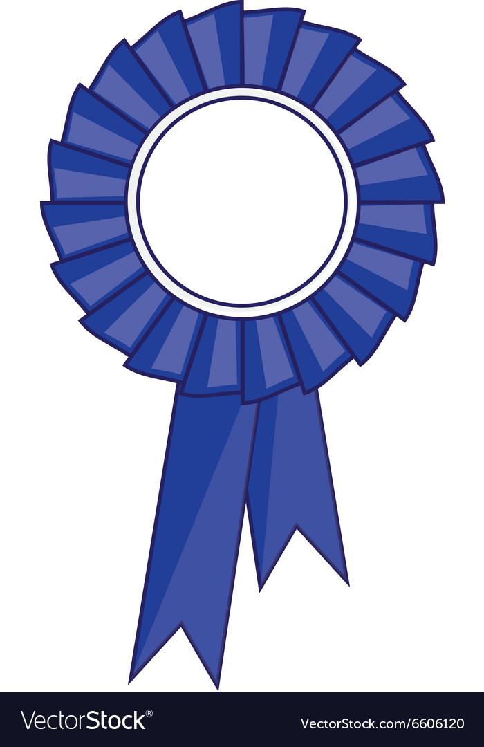 Blue award ribbon vector image