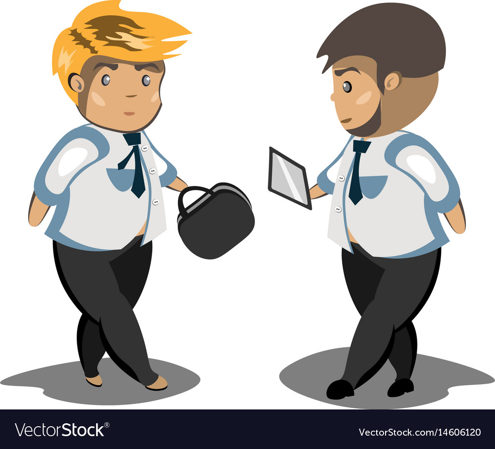 Businessmans in black suit vector image