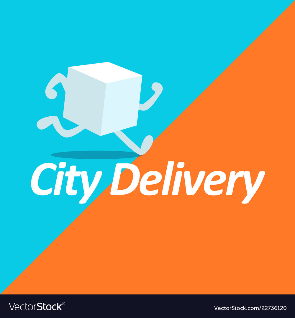 Fast delivery logo template