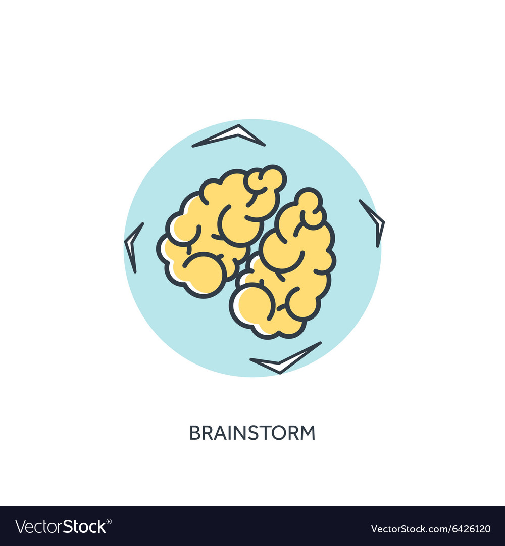 Flat lined brains icon