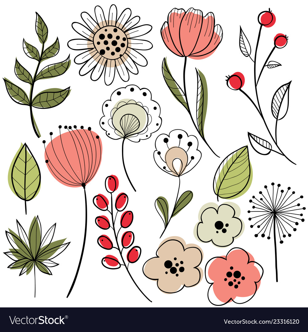 Flower Graphic Design Royalty Free Vector Image