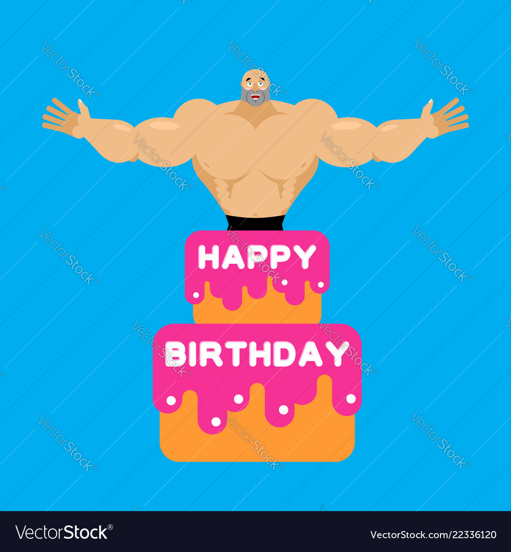 Astonishing Happy Birthday Cake Stripper From Cake Royalty Free Vector Funny Birthday Cards Online Alyptdamsfinfo