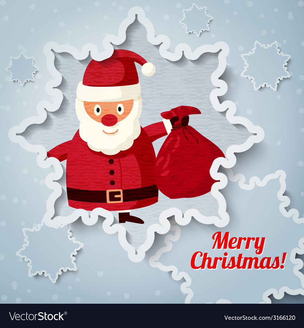 Merry Christmas greeting card with place for your