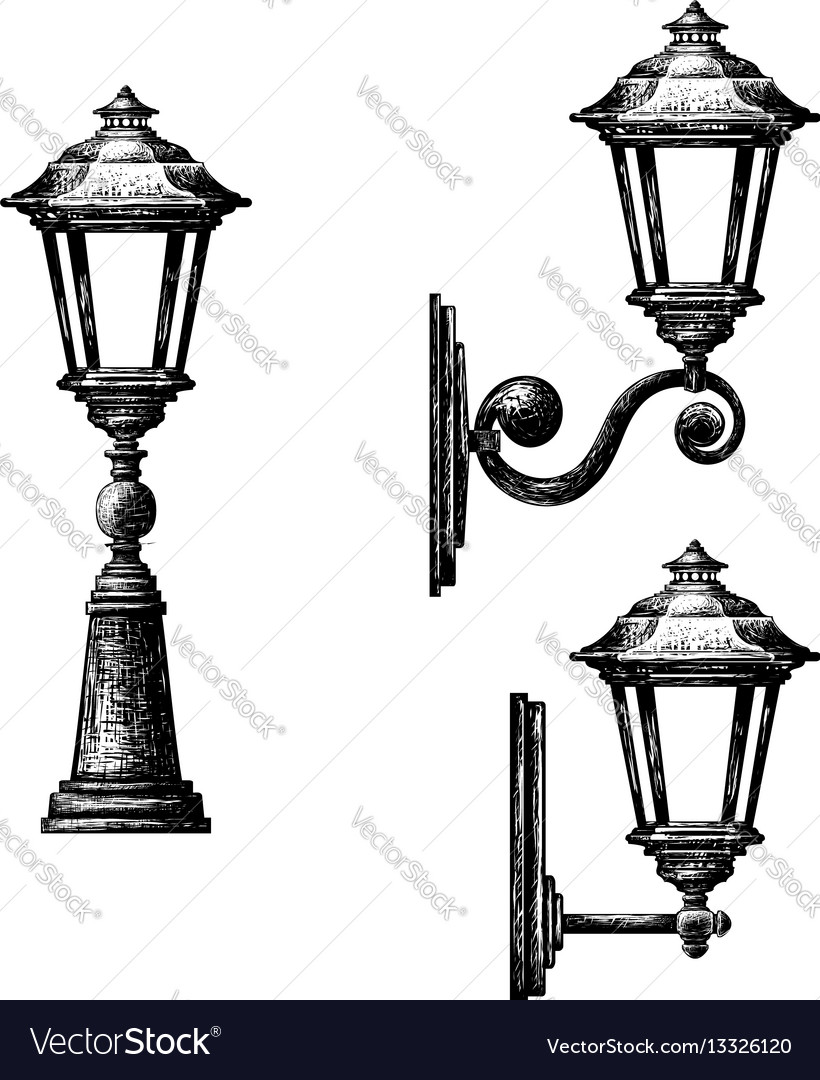 Sketch of street light Royalty Free Vector Image for Street Light Sketch  75tgx
