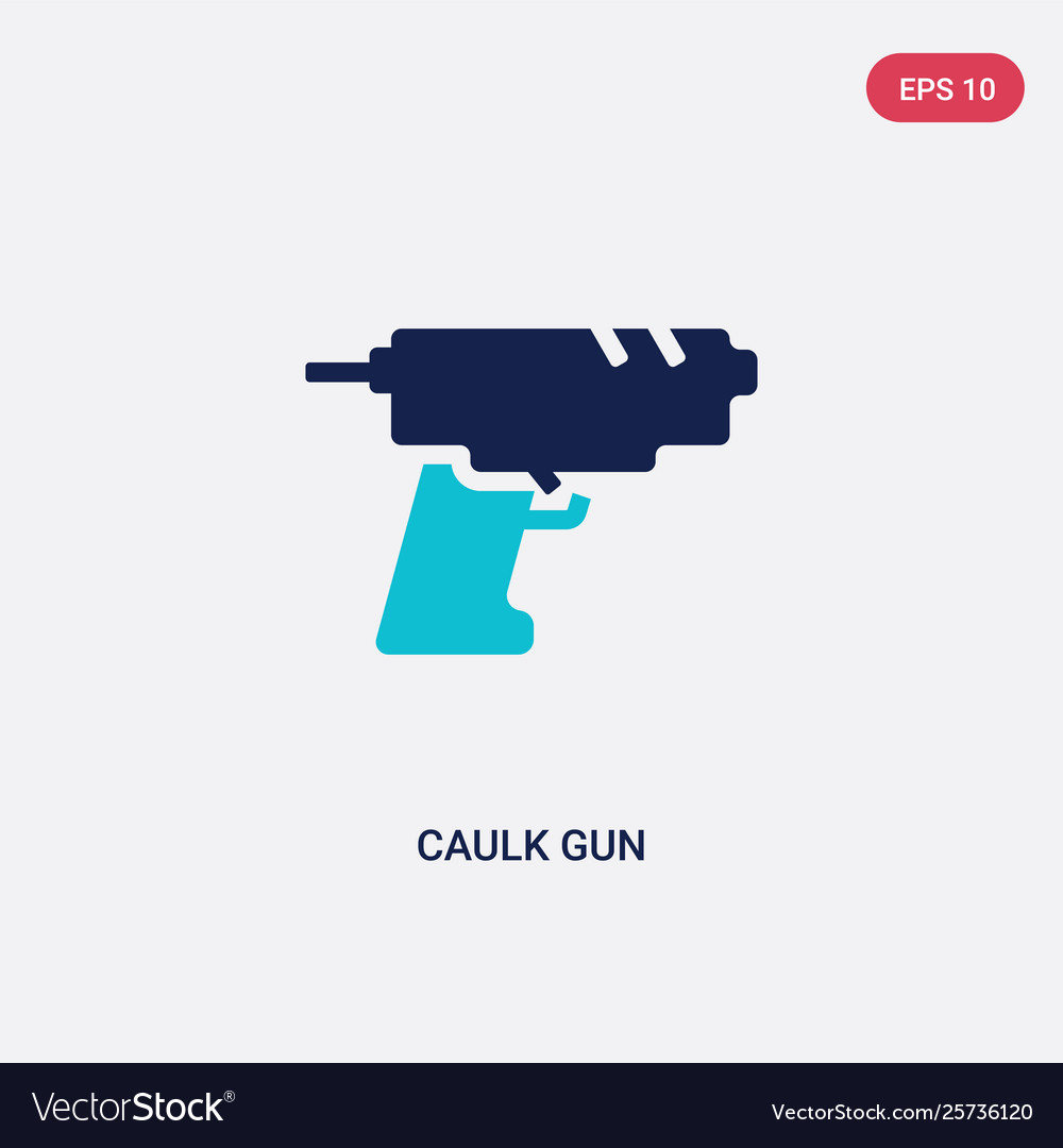 Two color caulk gun icon from construction and