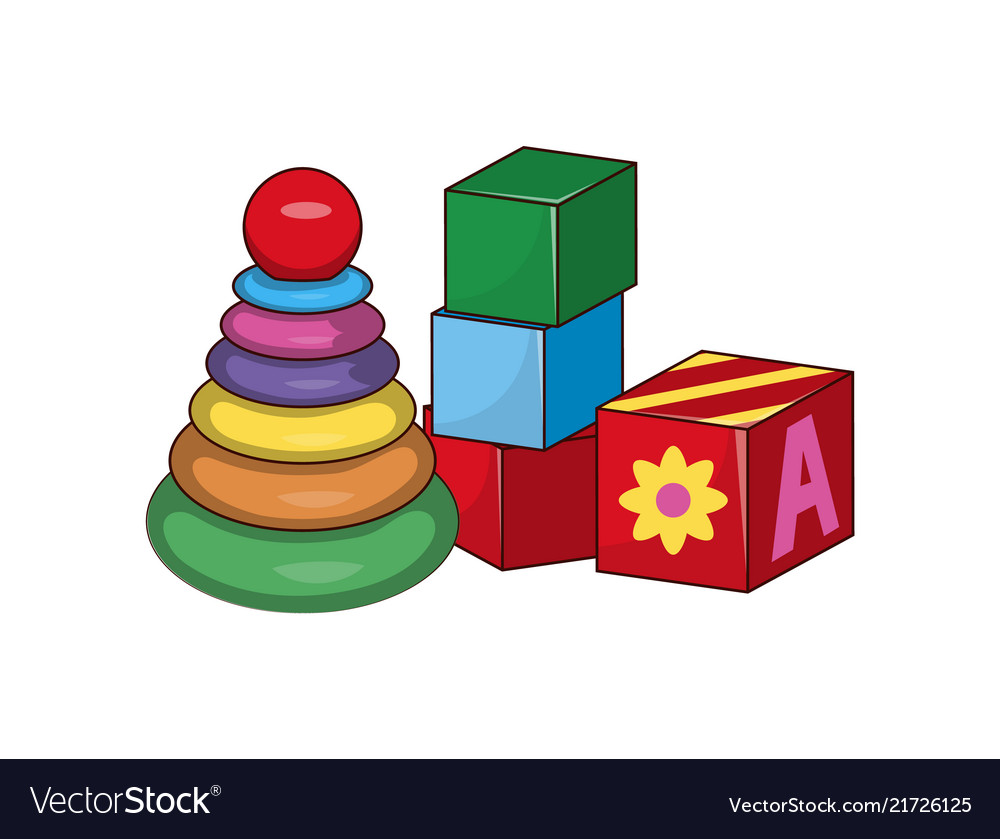 Children s pyramid cubes first baby constructors