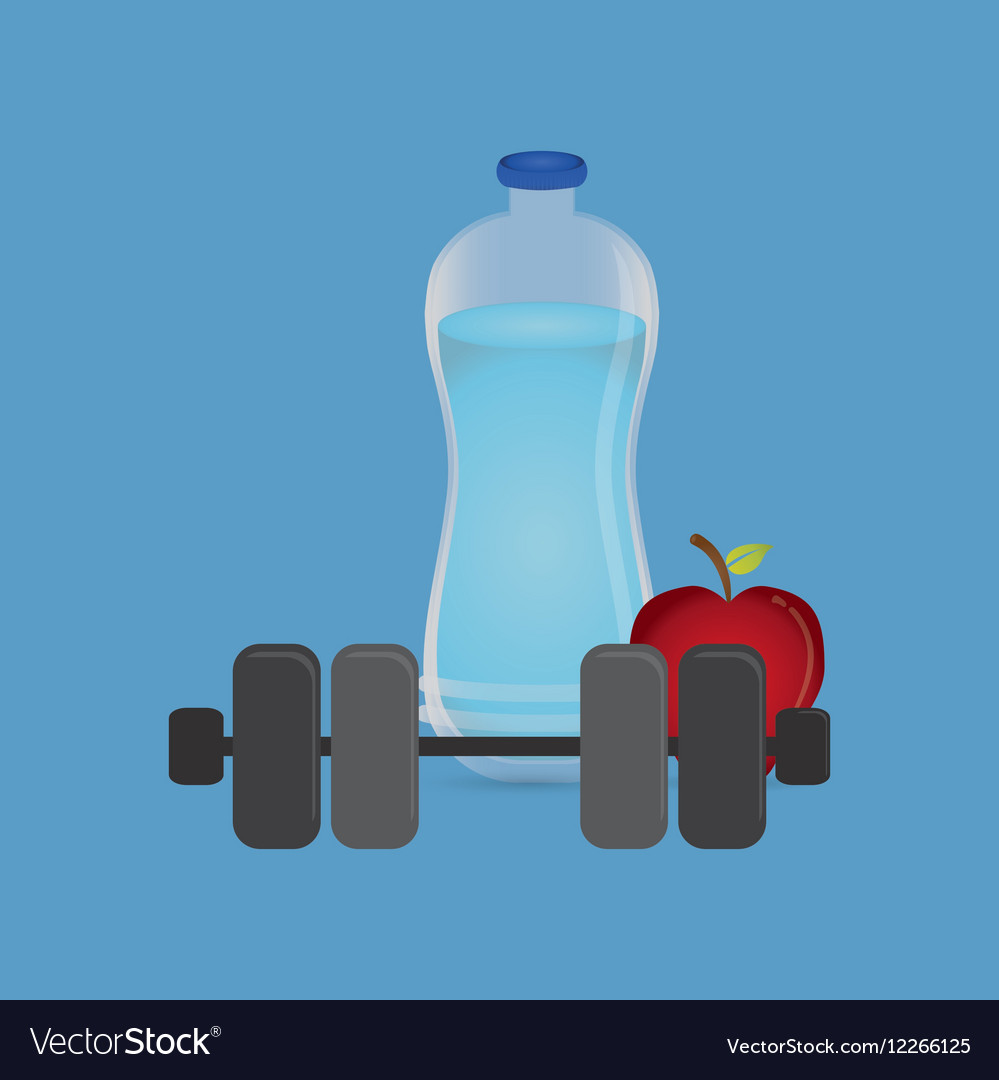 Fitness healthy food vector image
