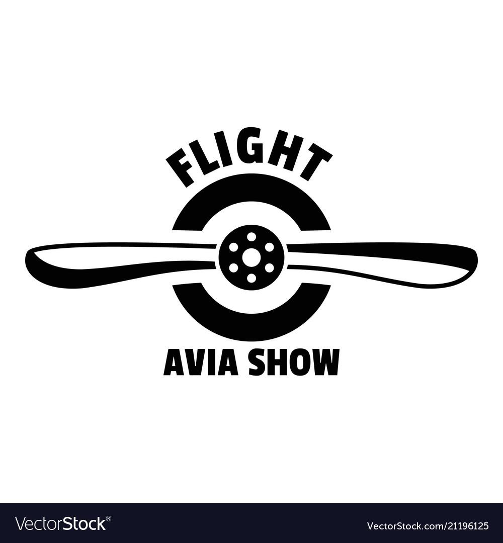 Flight avia show logo simple style