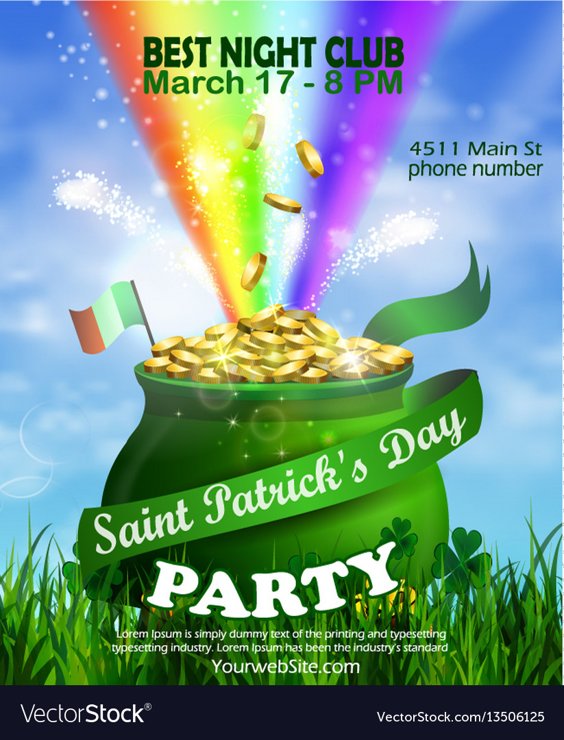 St patrick s day poster design template