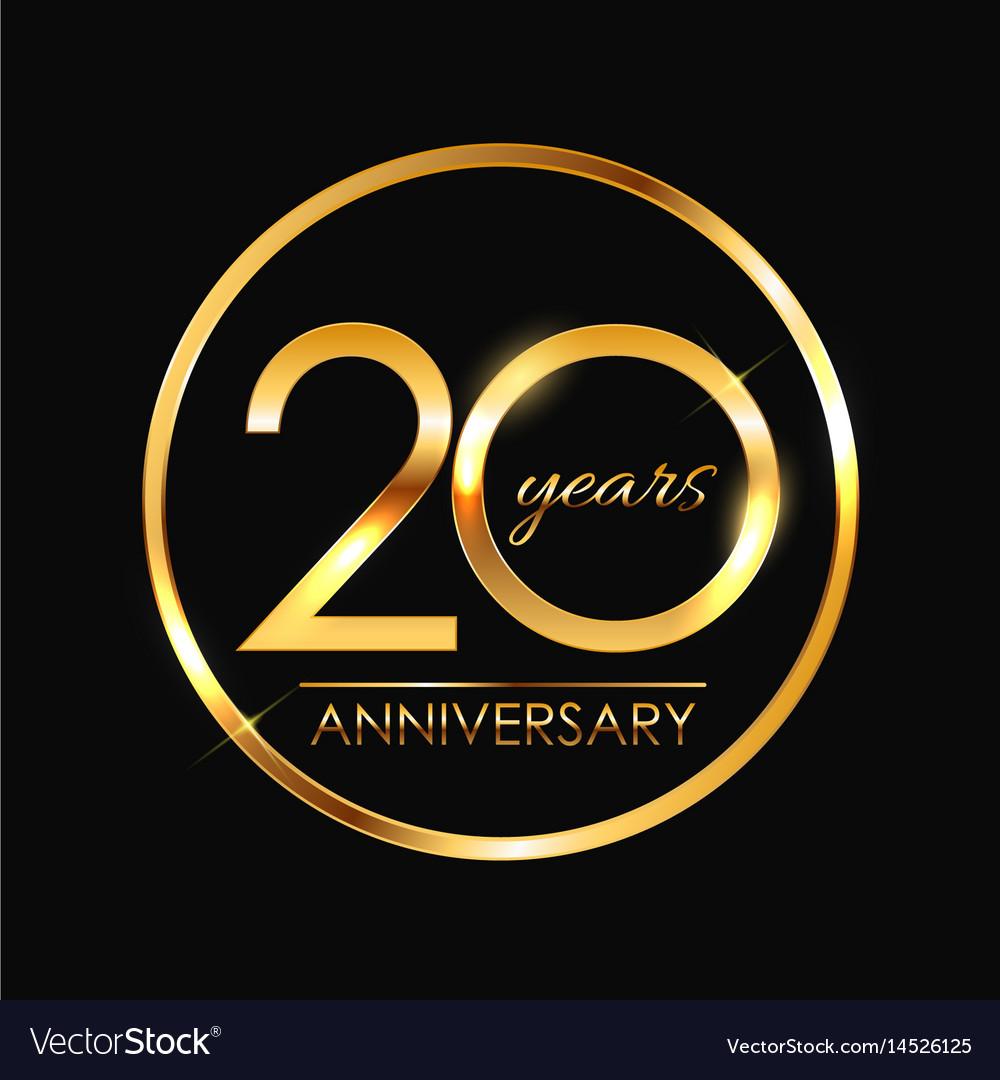 Template 20 years anniversary