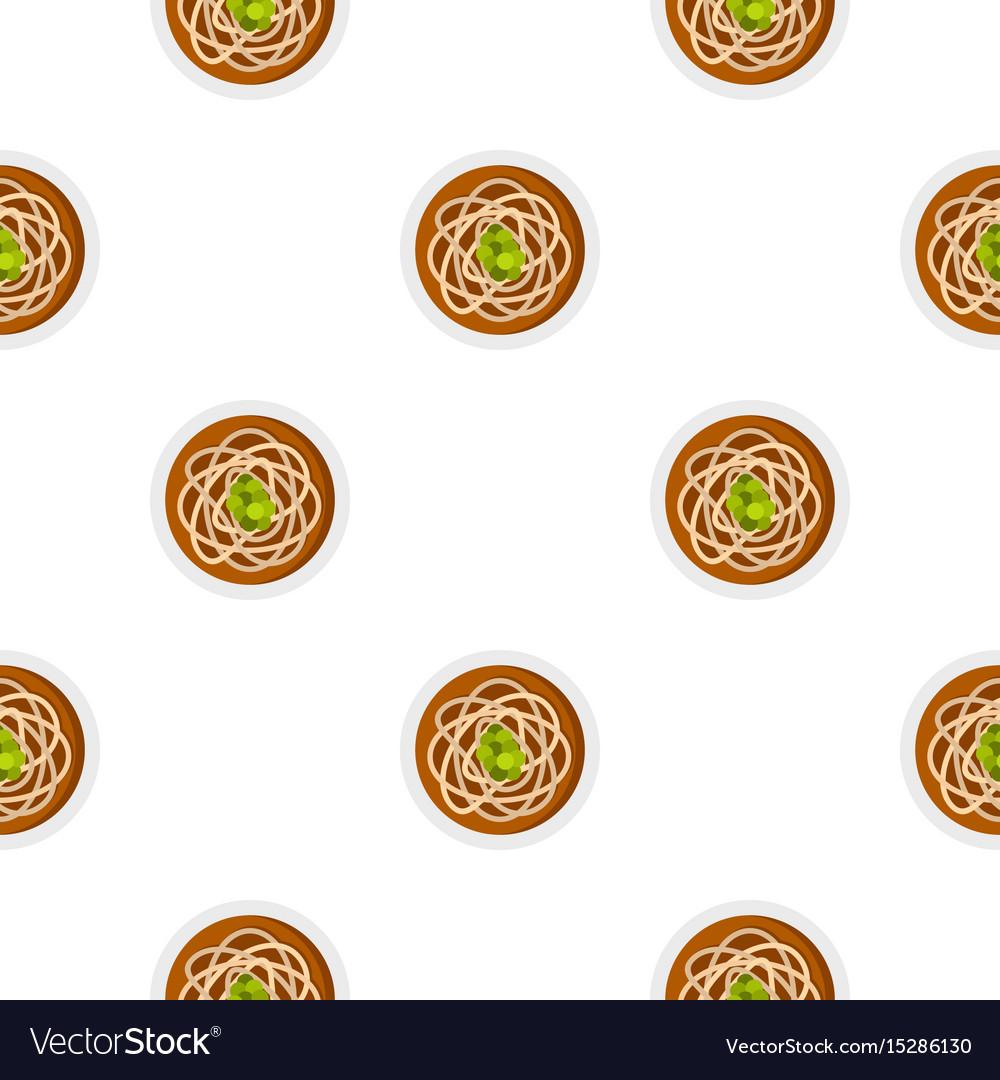 Asian noodles pattern seamless