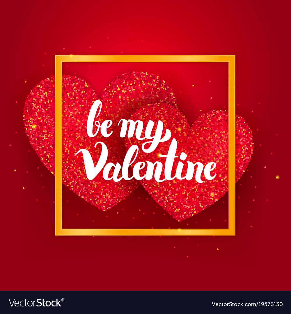 be my valentine postcard royalty free vector image