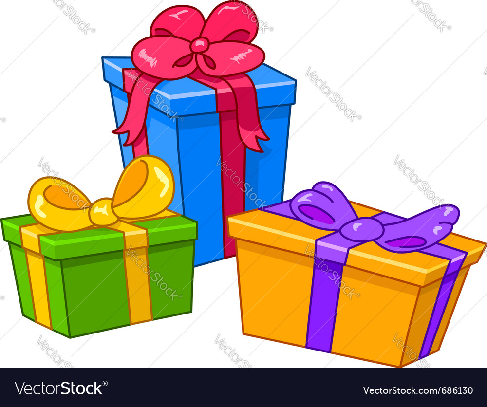 Cartoon gifts vector image