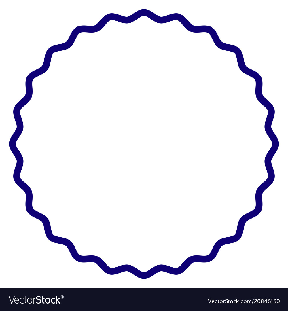 certificate rosette round frame template vector image