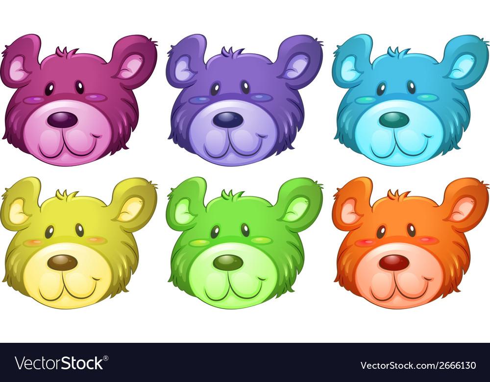 Cute Bear Heads Royalty Free Vector Image Vectorstock