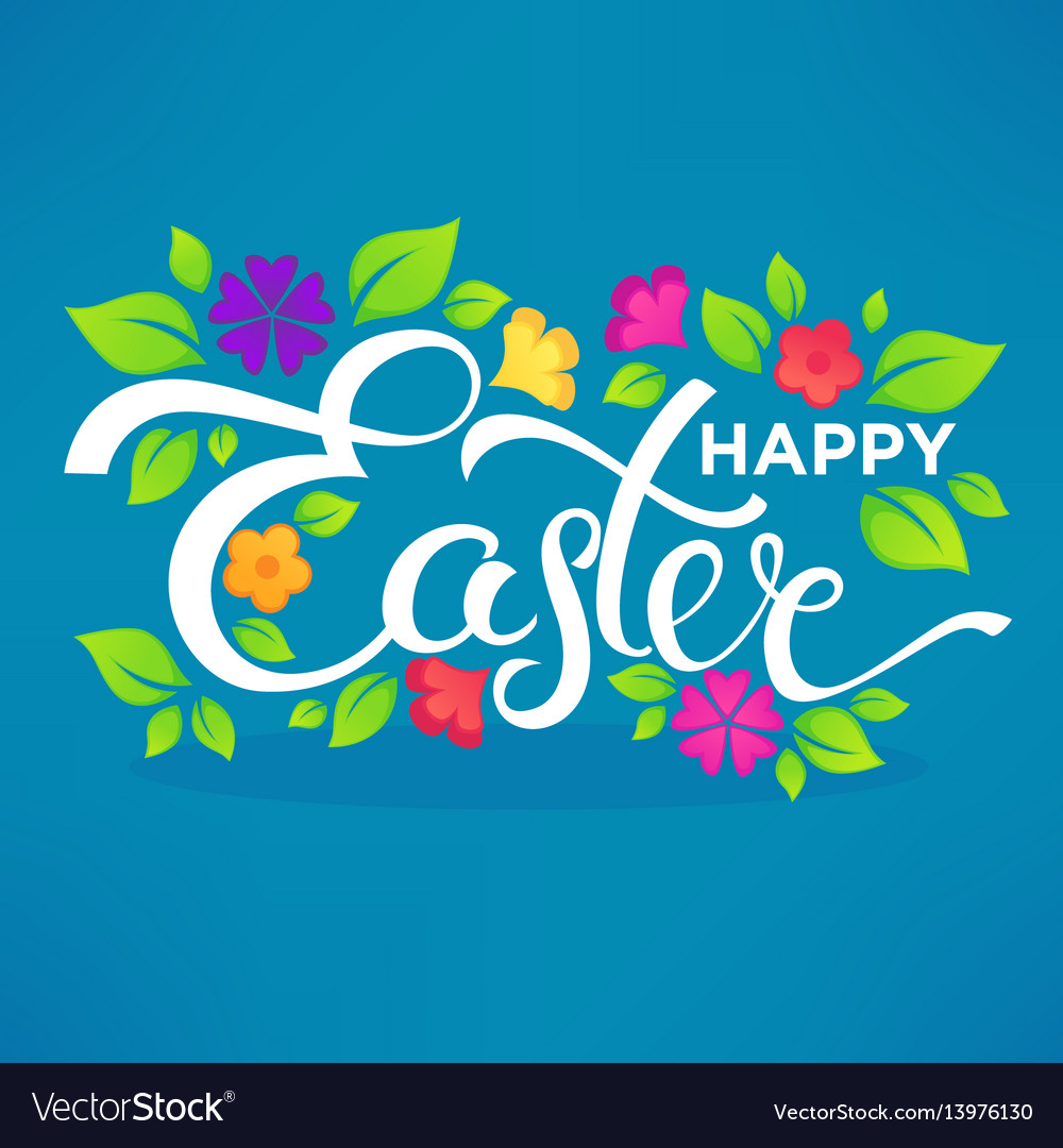 Happy easter lettering composition for your card