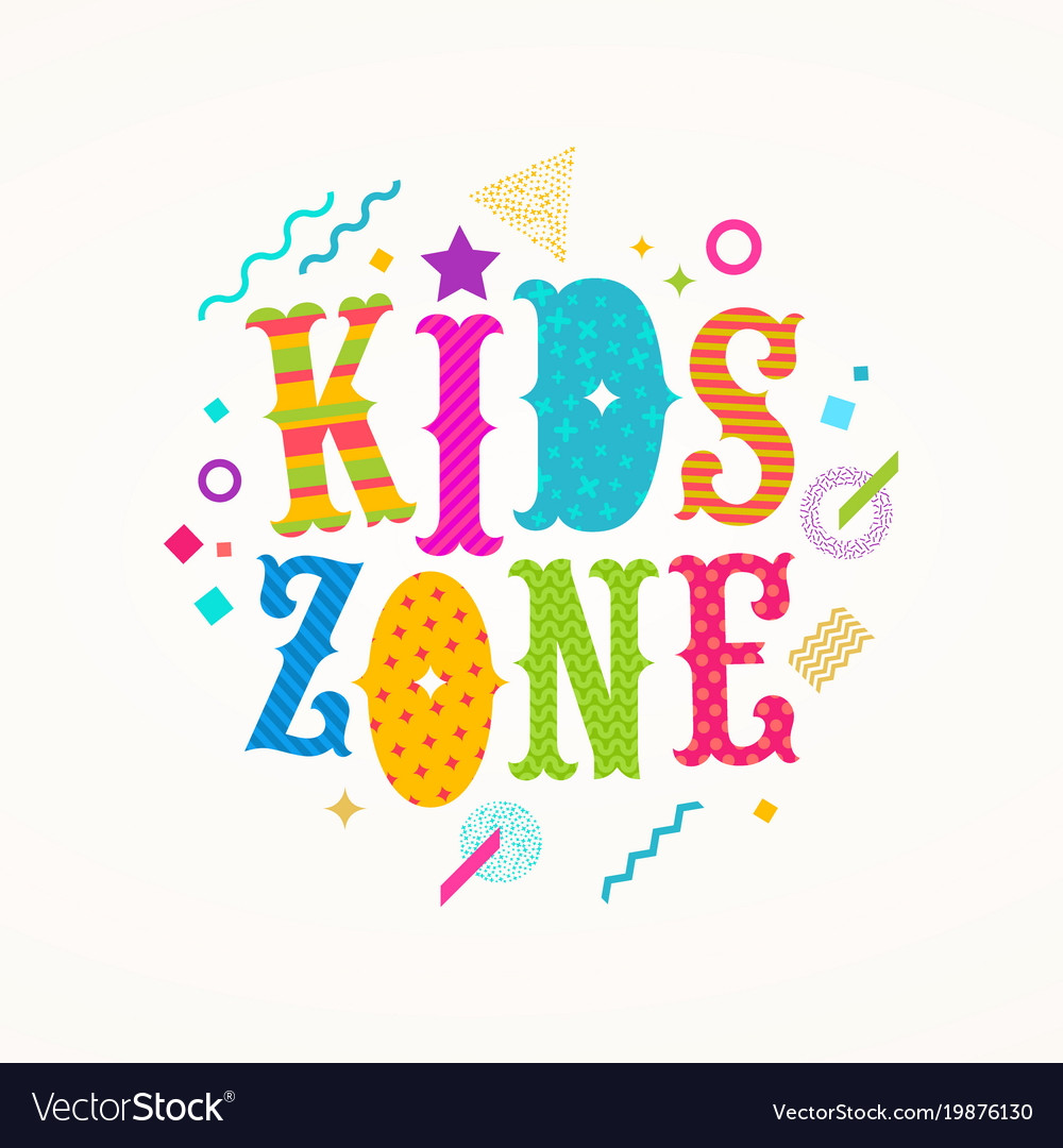 Kids zone logo emblem for childrens play area
