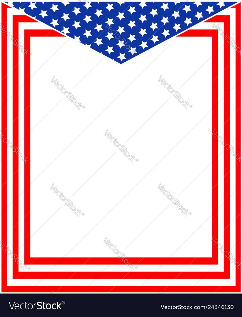 Patriotic american frame