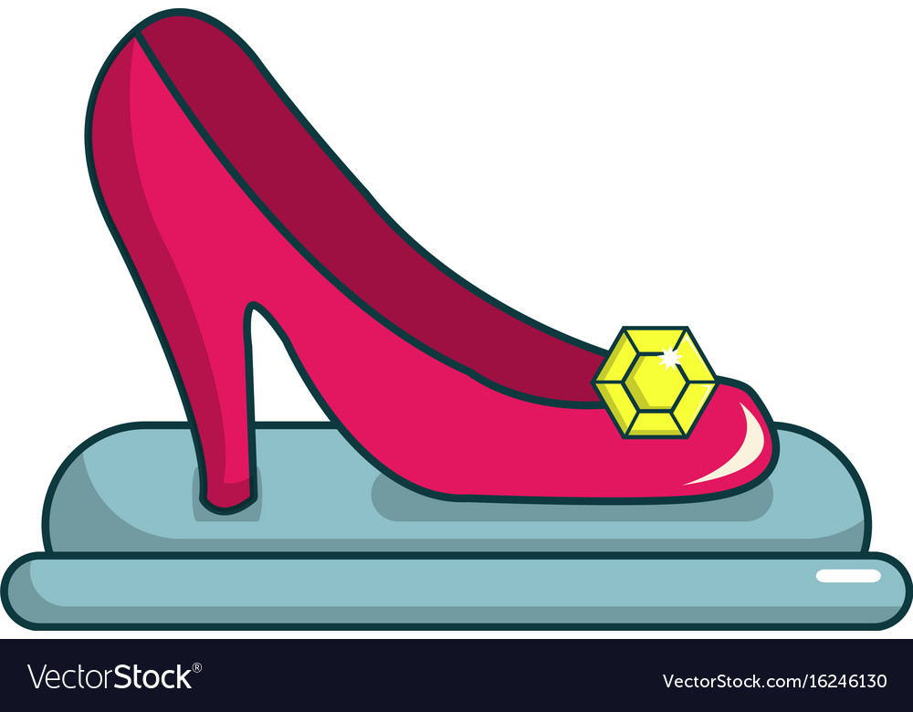 princess shoe icon cartoon style royalty free vector image rh vectorstock com vector shoes box vector shoe print