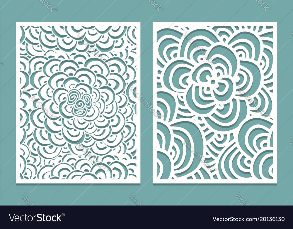 Set Of Laser Cut Pattern Panel Templates Wood Or