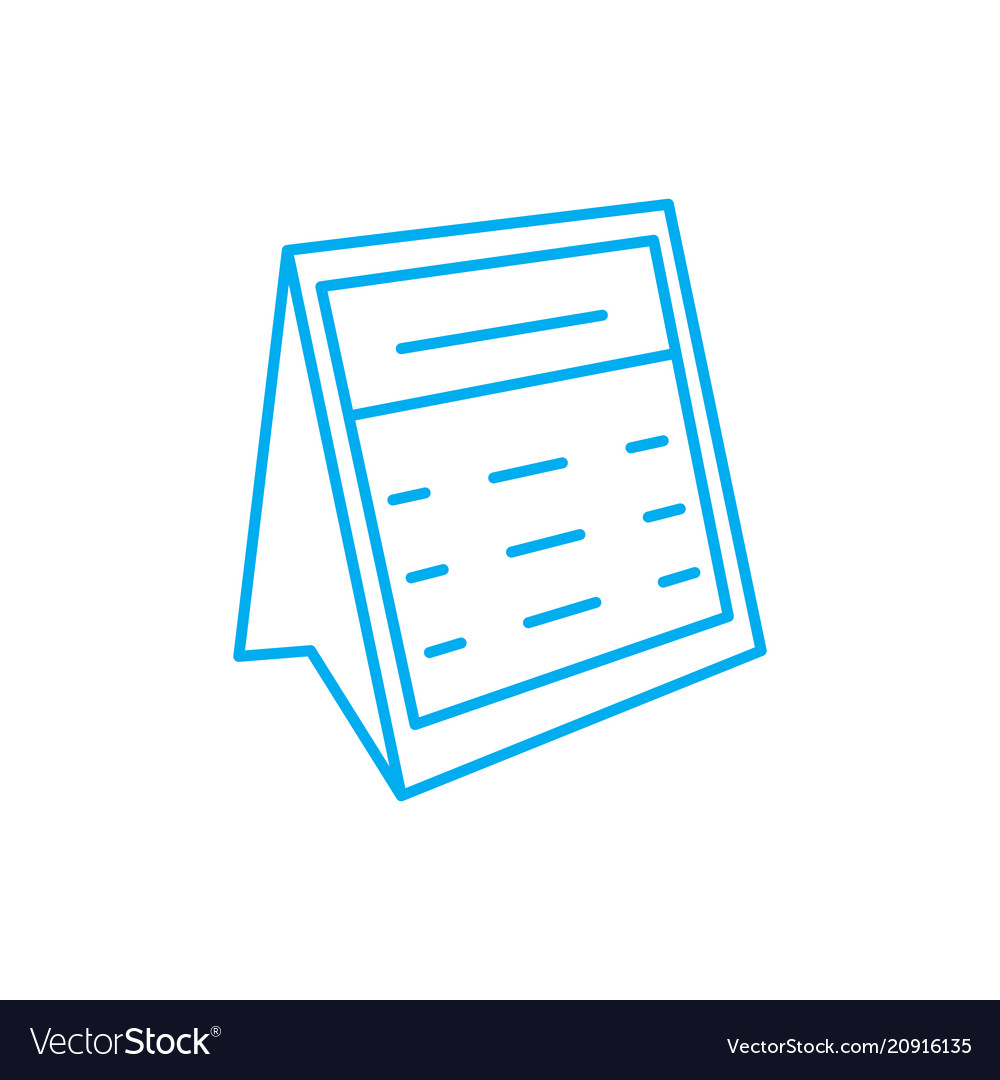 Desk calendar linear icon concept desk calendar vector image
