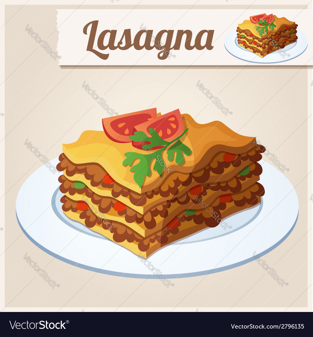 Detailed Icon Lasagna