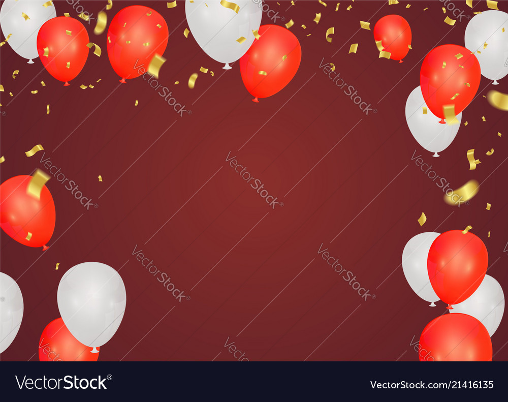 Red festive background with flags on transparent