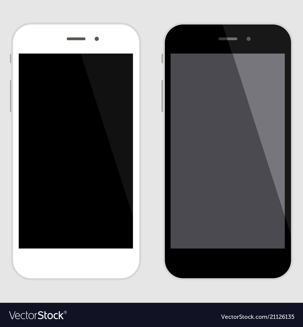 Touchscreen smartphone set black and white