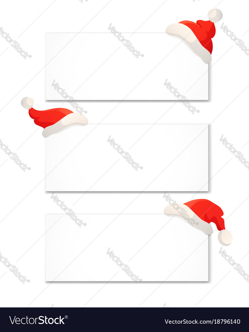 Christmas banner design template isolated on white