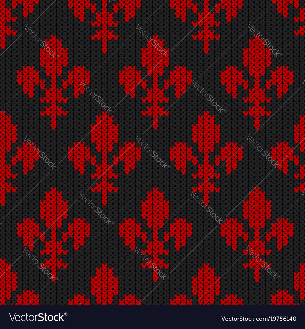 Flower-de-luce on a seamless woolen pattern