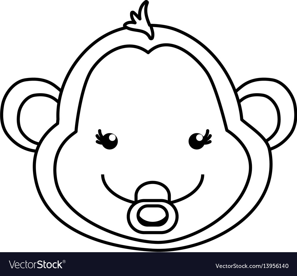 Monkey cartoon drawing animal