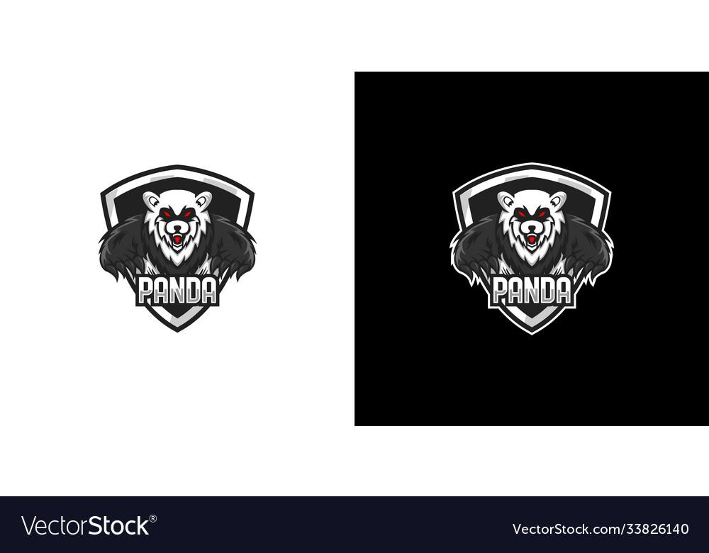 Panda shield logo design