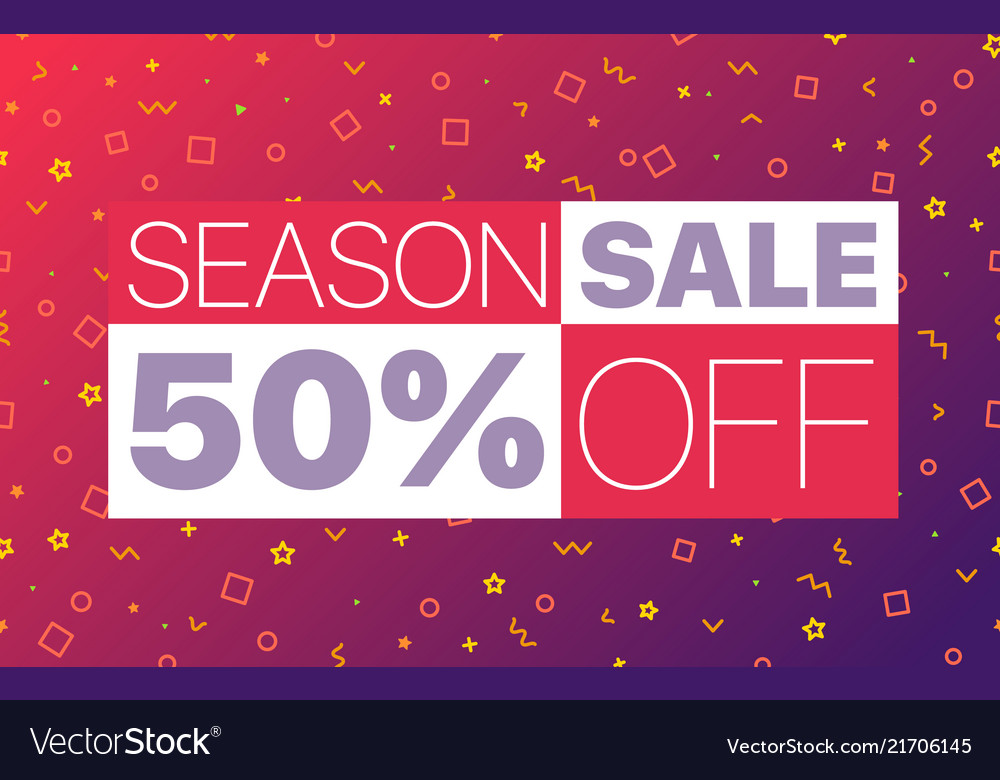 Abstract color sale banner template season sale