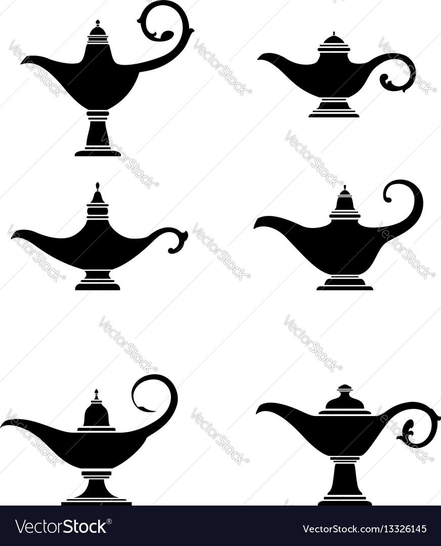 Alladin lamp vector image