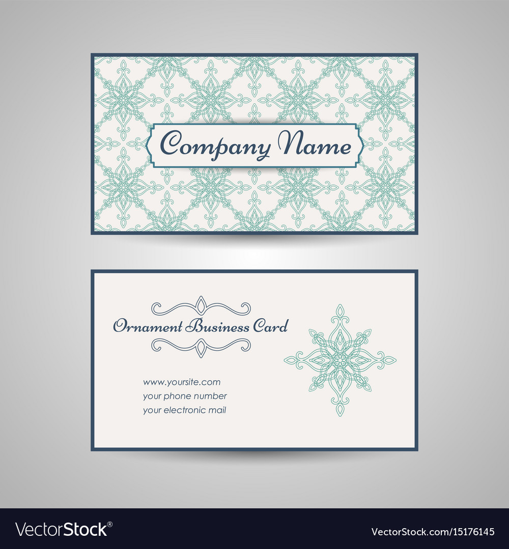 Arabic style business card template royalty free vector arabic style business card template vector image colourmoves