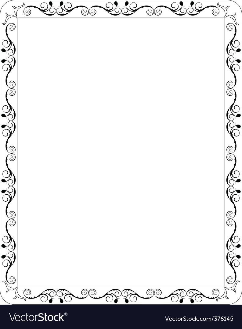 filigree border royalty free vector image vectorstock rh vectorstock com border vector free border vector free download