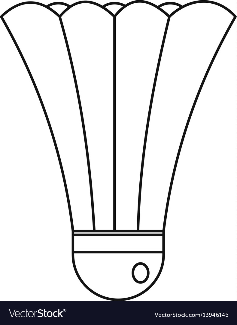 Shuttlecock icon outline style