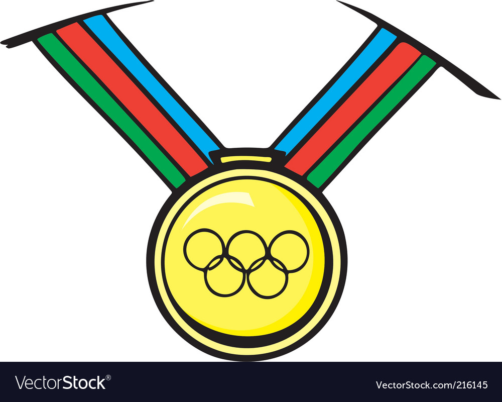 Track field medal vector image