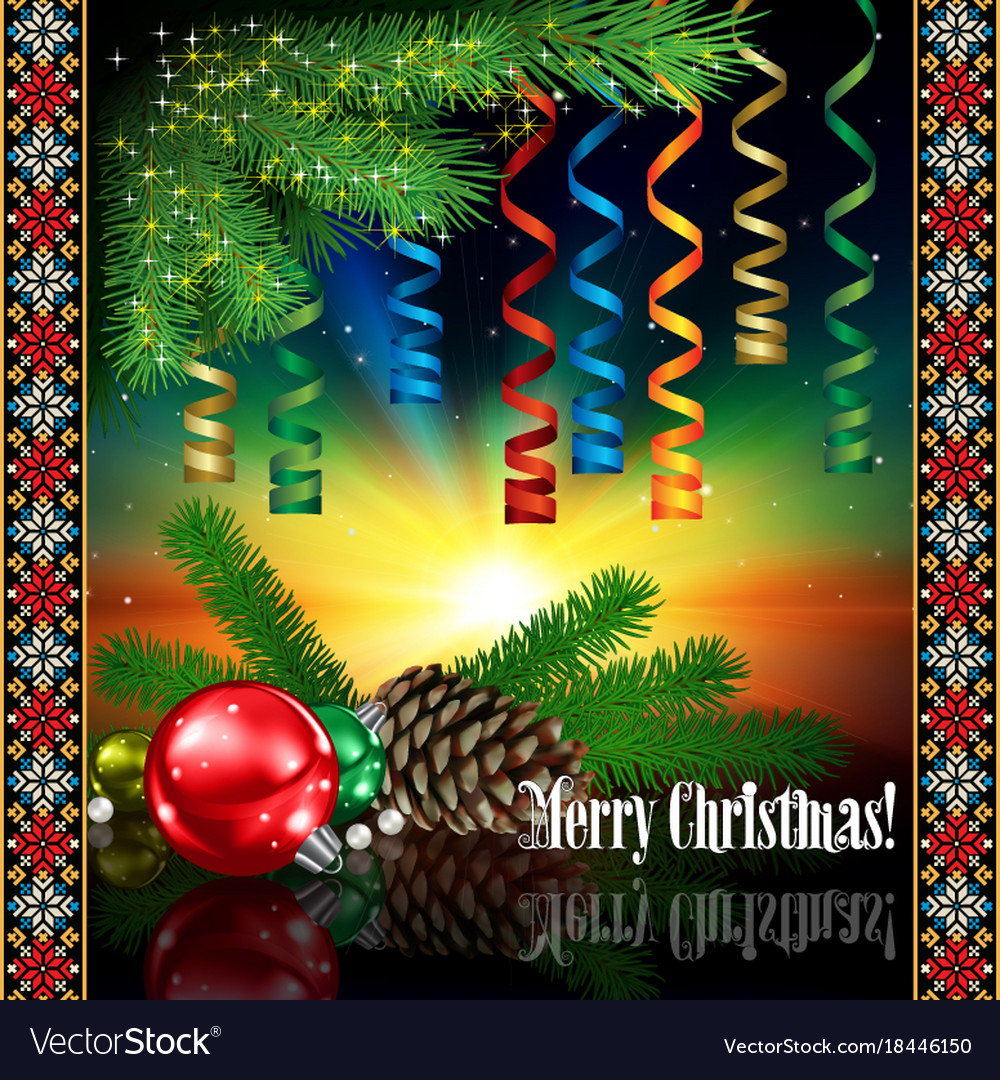 Abstract celebration greeting with christmas