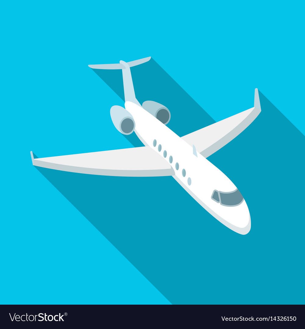 Airplane icon in flat style isolated on white