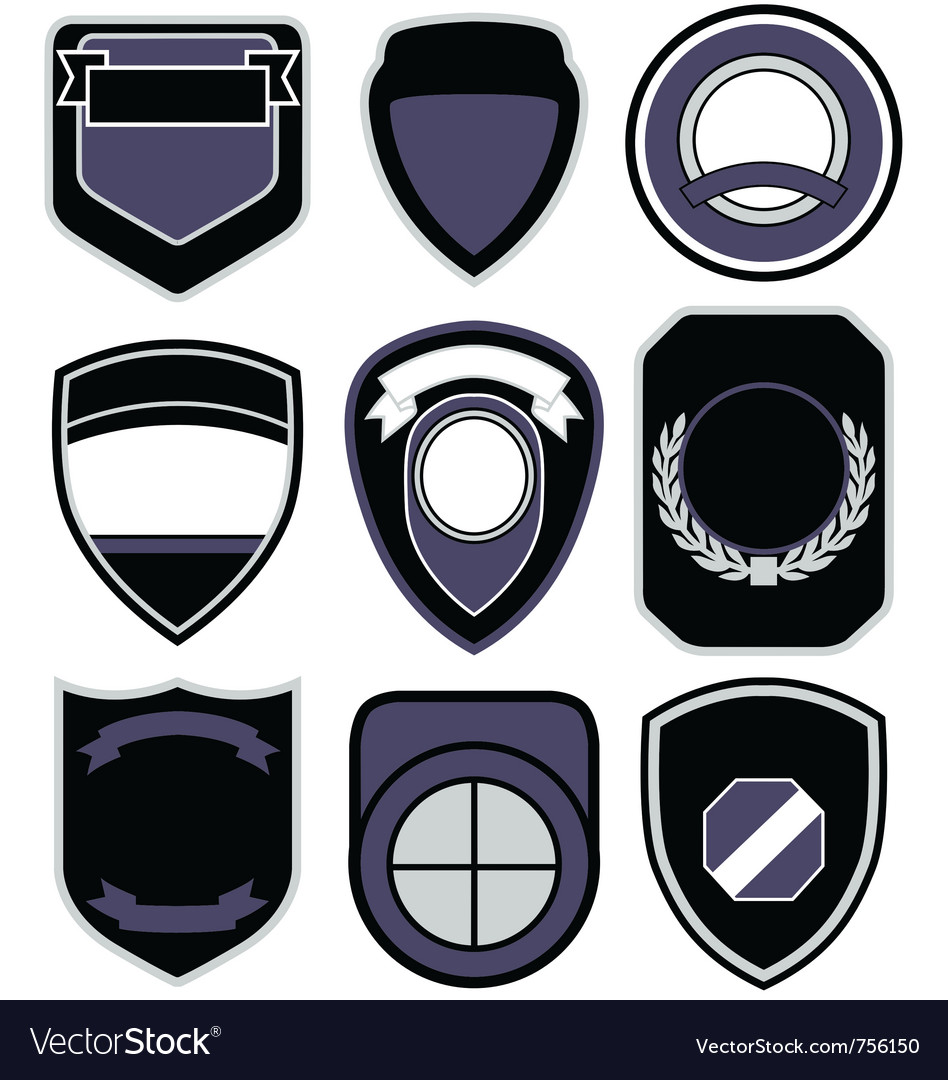 Badge shape icon set