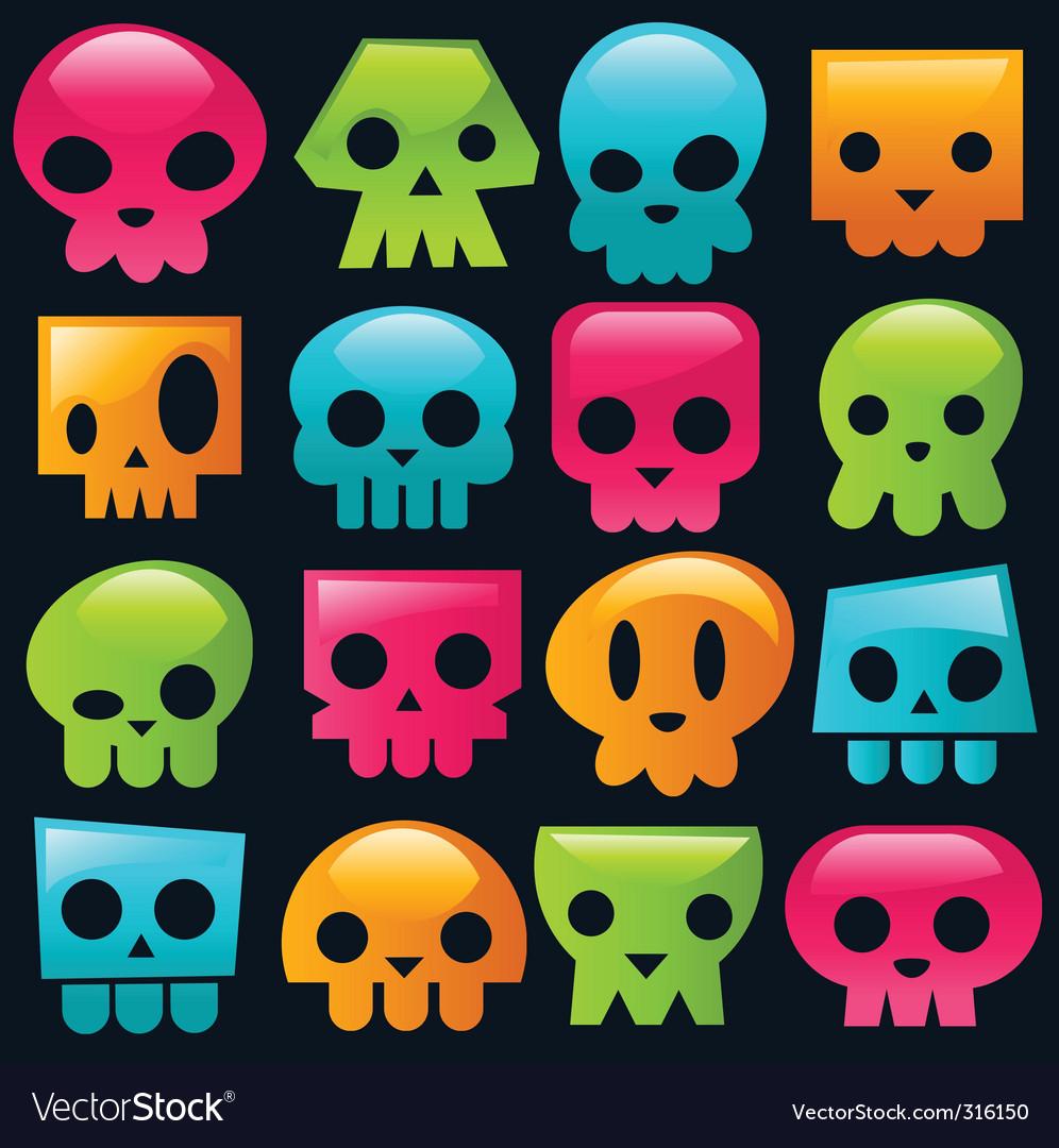 Candy skulls vector image