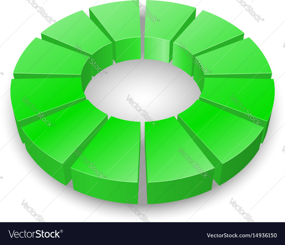 Green circular diagram isolated on white