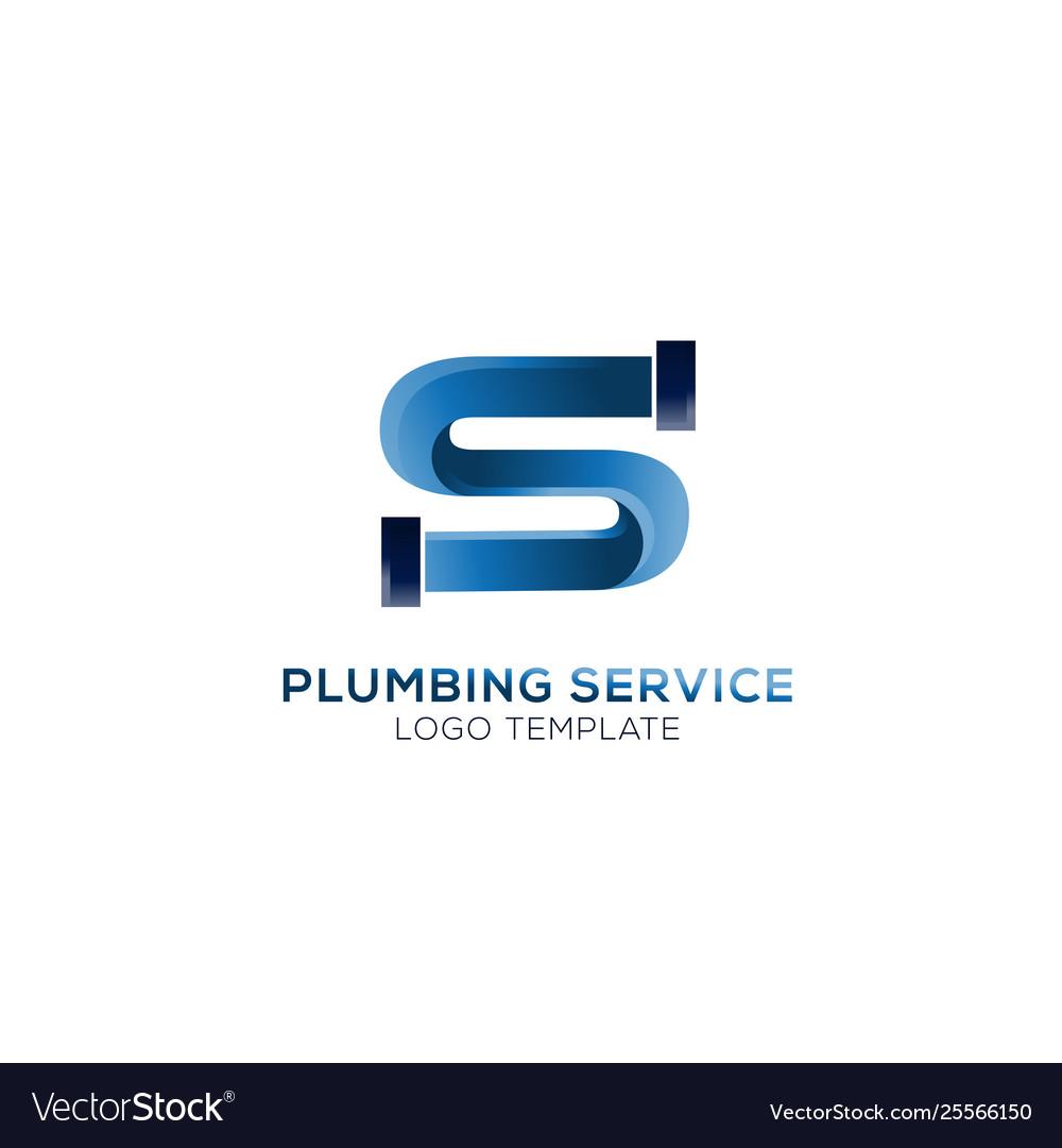 Letter s plumbing logo
