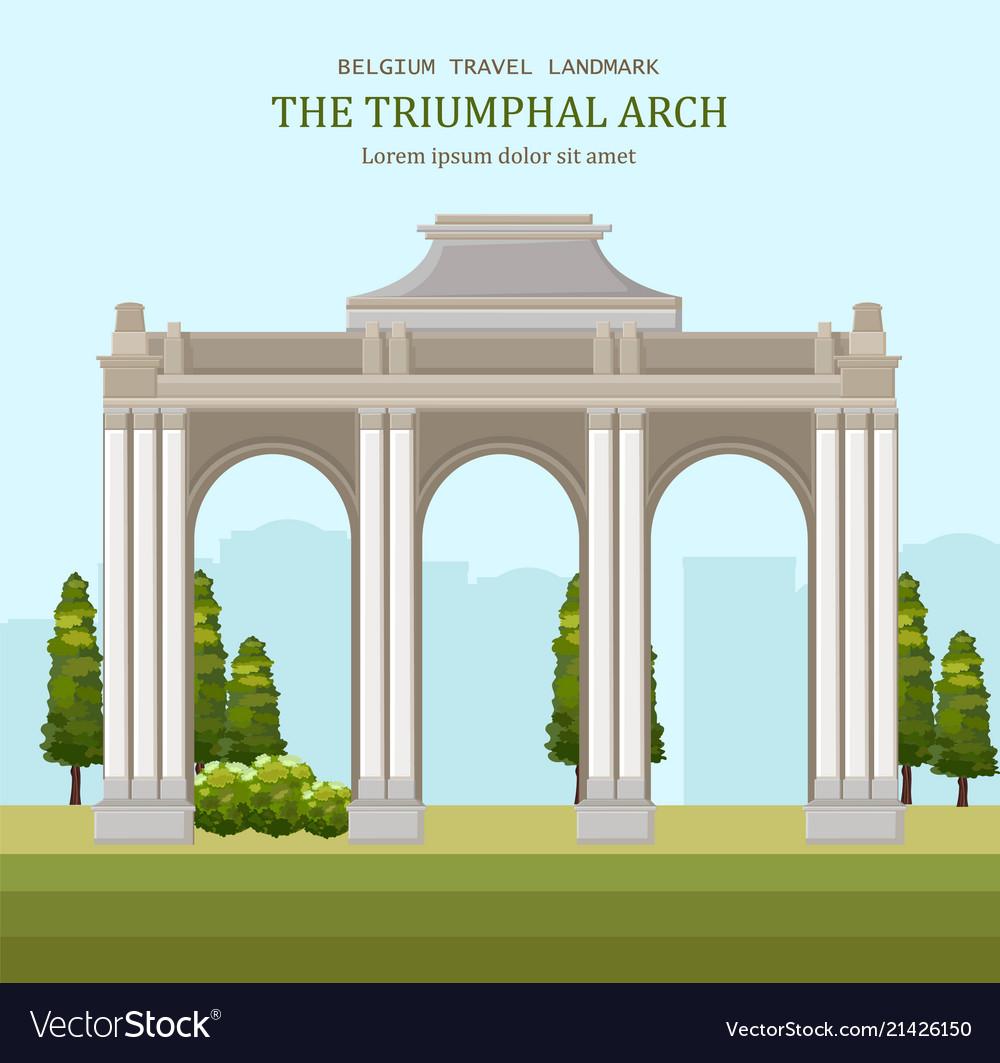 Triumphal arch in blegium architecture